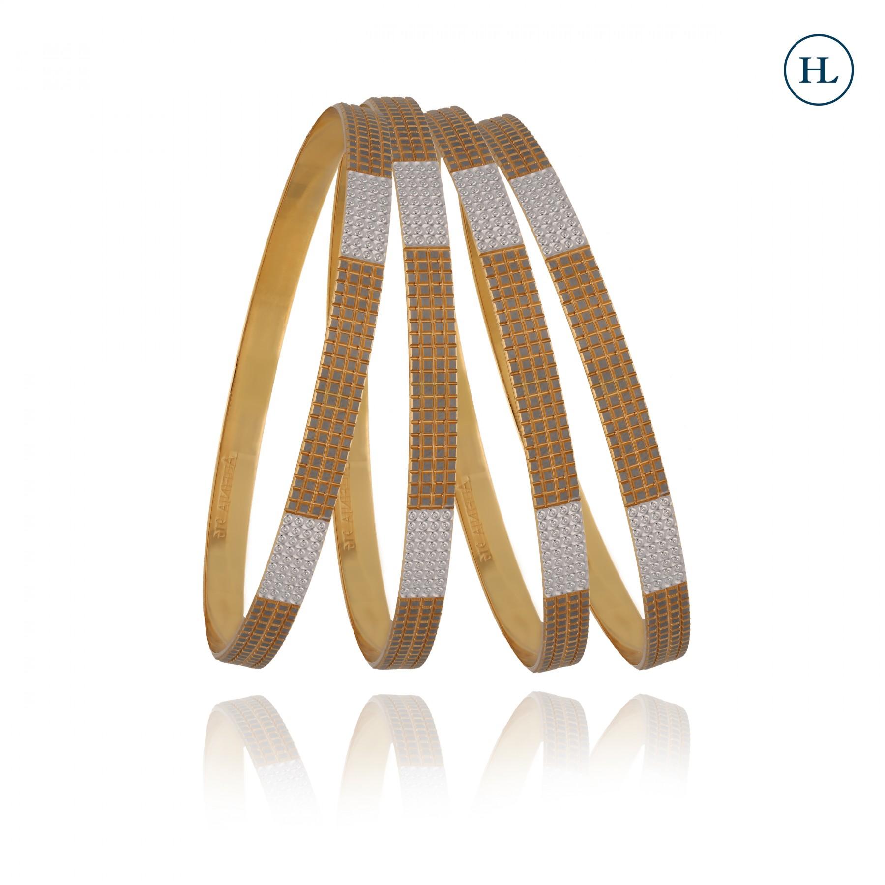 Dual Tone Gold Bangles