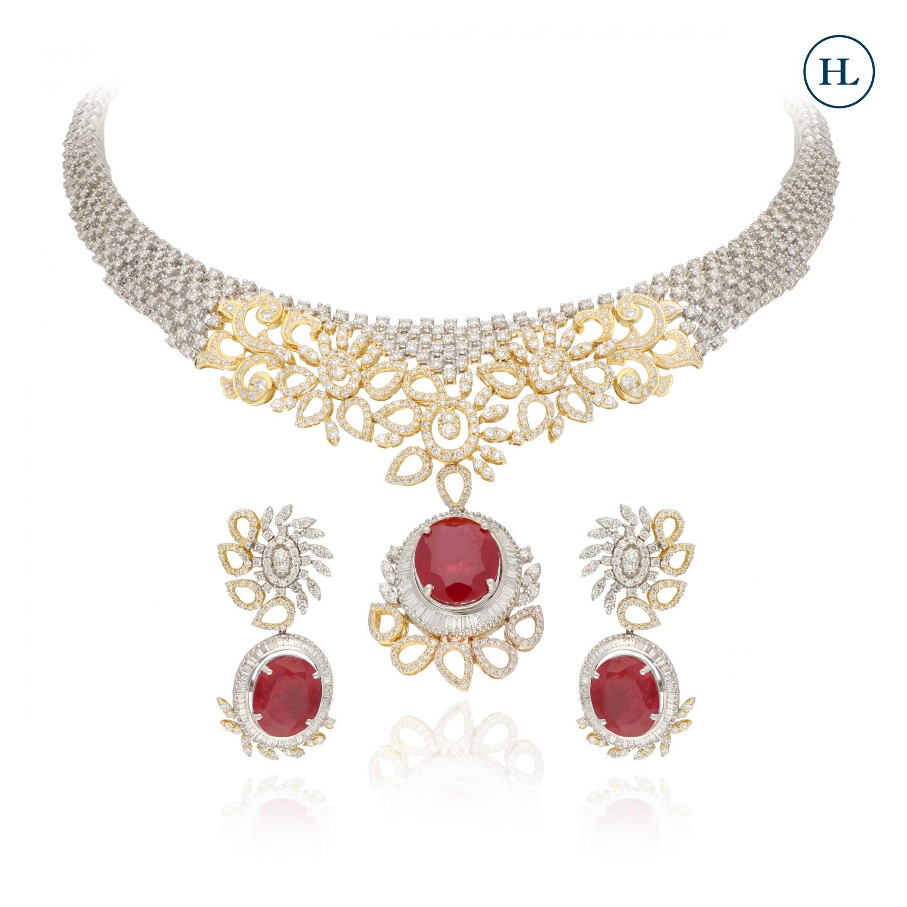 Onyx & Diamond Necklace Set