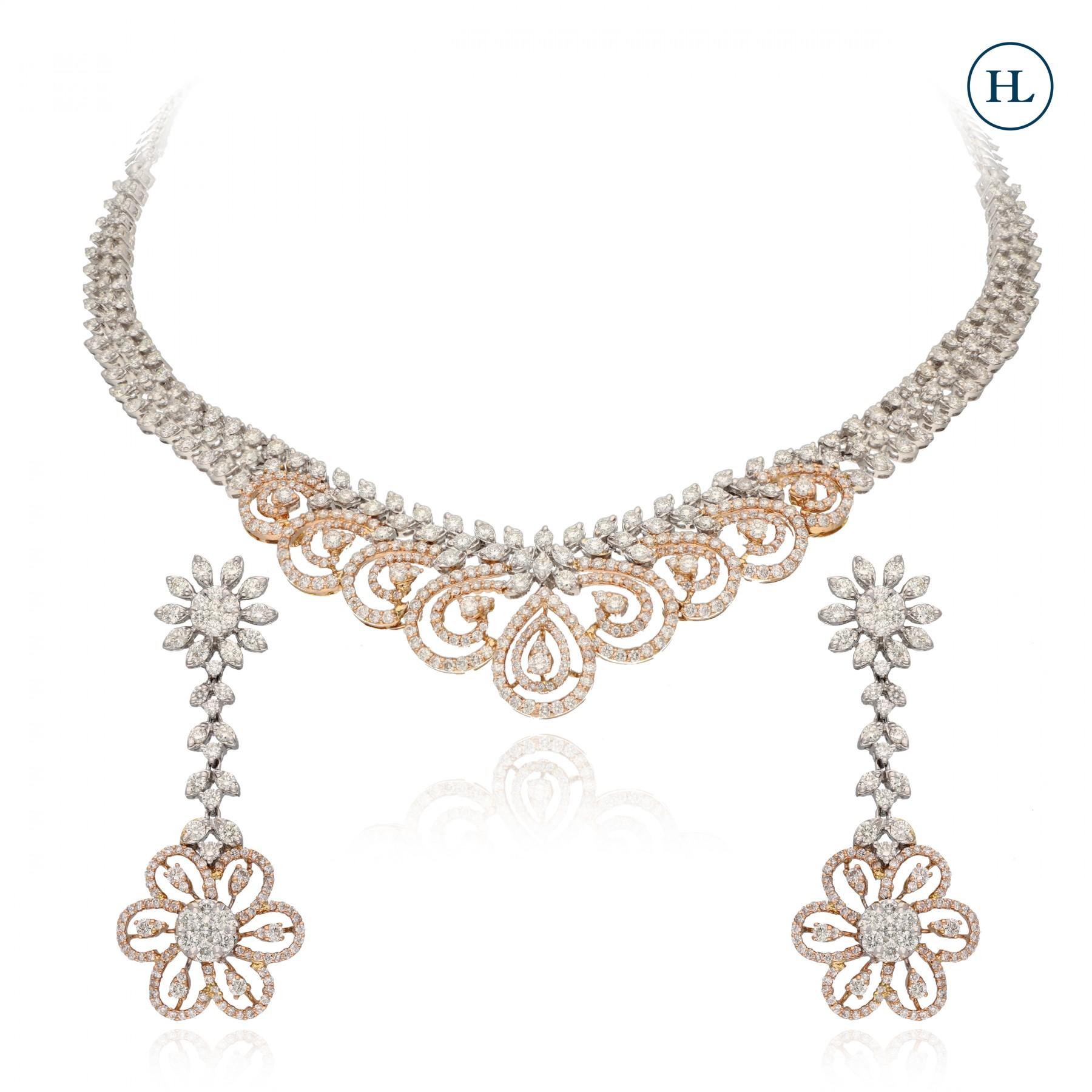 Floret diamond Necklace Set